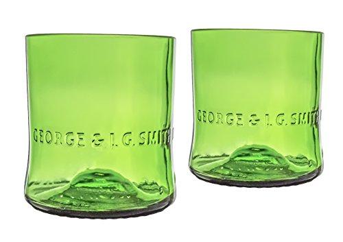 - Glenlivet Scotch Whiskey Reclaimed Bottles Glassware Barware Drinkware Old Fashioned Glasses Gift Set