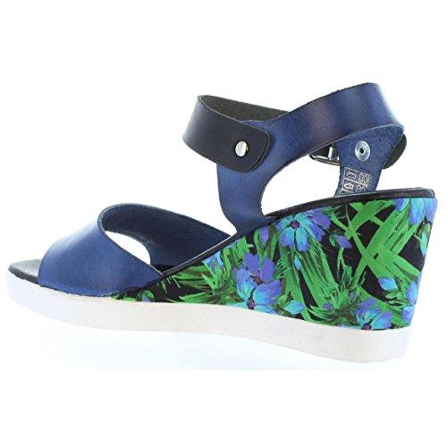 Zapatos de cuña de Mujer CUMBIA 30150 MARINERO-NEGRO