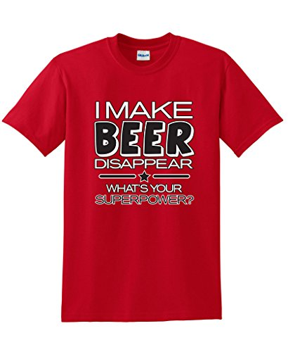 - I Make Beer Disappear What's Your Superpower Cool Graphic Novelty Funny T Shirt 3XL Red