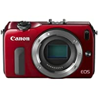 Canon EOS M Compact System Camera -Red- Body Only International Model (No Warranty)