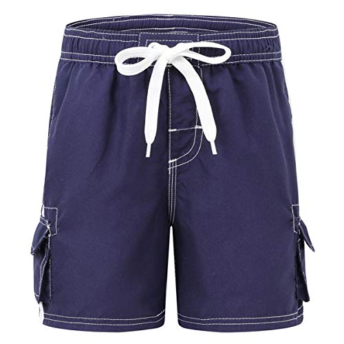 Akula Boys Quick Dry Swim Trunks Beach Board Shorts with Mesh Lining