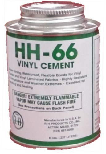 HH-66 PVC Vinyl Cement Glue with Brush 8oz (1) (Vinyl Pool Liner Repair Kit Best)