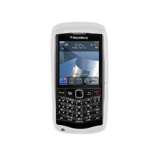 Monoprice Silicone Case for BlackBerry Pearl 9100 - Retail Packaging - Clear ()