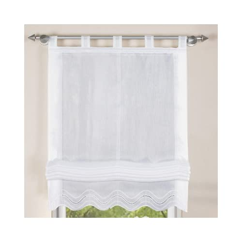 white roman blinds contemporary home fashion 79252801 white roman blind batiste 140 cm 80 white blinds amazoncouk