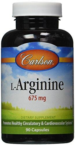 Carlson Labs L-Arginine, 675mg, 90 Capsules