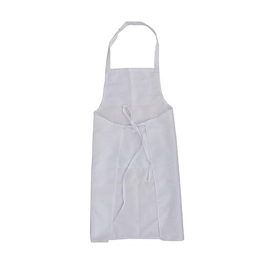 LEORX Ärmellose Küche Kochen Schürze Mit Tasche (weiß): Amazon.de: Baumarkt