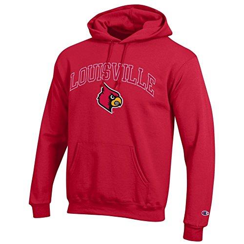 Elite Fan Shop Louisville Cardinals Hooded Sweatshirt Varsity Red - XL (Louisville Cardinals Fan)