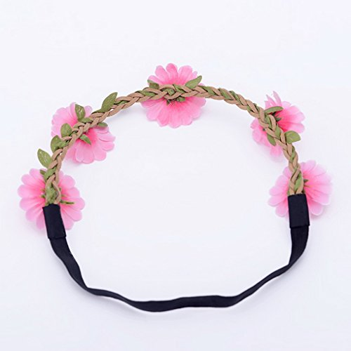 8 Fleurs Lot Bandeau Floral Pour Vacances Elastique Cheveux Mariée Mariage De Acmede Plage Couronne qBEdtxw8H8