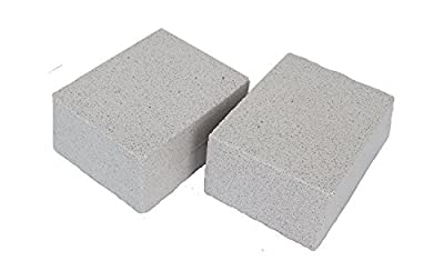 KP Solutions 2 Pack Grilling Stone Cleaner 100% Ecological Odorless Griddle Cleaner Handheld Non Slip Grip De-Scaling BBQ Block Construction   Removes Encrusted Greases, Stains, Residues, Dirt & More
