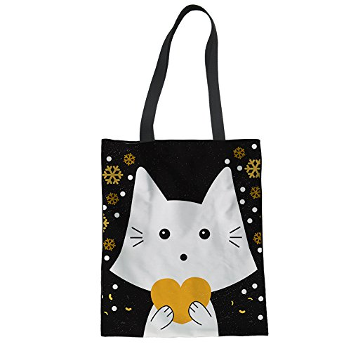 Black Hiking Tote 2 Shoulder Initial Women Bag Cat Capacity Large Swimming For ZZBrRzF