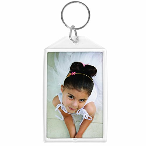 """Neil 1.75"""" x 2.75"""" Acrylic Snap-In Photo Keychain - Pack ..."""