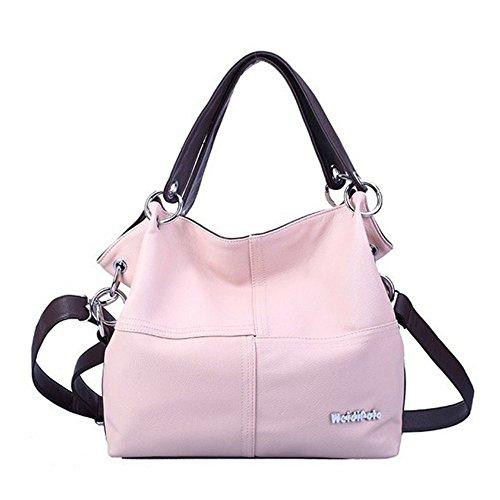 Eysee - Bolso de tela para mujer marrón verde 33cm*32cm*11cm rosa claro