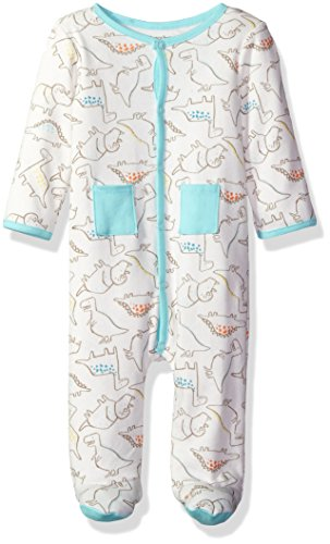 ABSORBA Baby Boys' Footie-Two Pocket, Mint, 3/6M