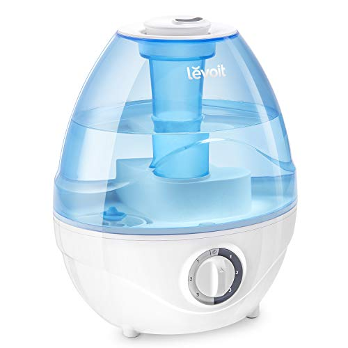 LEVOIT Humidifiers for Bedroom, 2.4L Ultrasonic Cool Mist Humidifier for Babies (BPA Free), Quiet Operation, Auto Shut-Off and Night Light, Lasts up to 24 Hours, 2-Year Warranty, AC 100-240V