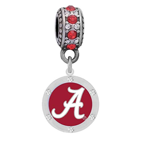 University Charm - Final Touch Gifts University of Alabama Logo Charm Fits Most Bracelet Lines Including Pandora, Chamilia, Troll, Biagi, Zable, Kera, Personality, Reflections, Silverado and More ...