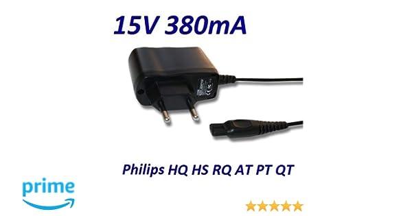 Cargador Corriente 15V Reemplazo Afeitadora Philips Multigroom TURBO QG3371 Recambio Replacement
