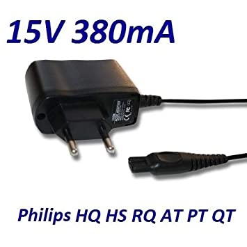 Cargador Corriente 15V Reemplazo Afeitadora Philips Multigroom TURBO QG3371 Recambio Replacement