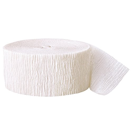 81ft White Crepe Paper Streamers
