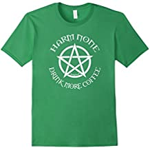 Harm None Drink More Coffee Pagan Wiccan Cheeky Witch TShirt