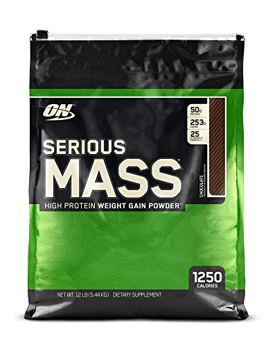 OPTIMUM NUTRITION Serious Mass Weight Gainer Protein Powder, Chocolate, 12 Pound (Best Weight Gain Powder)
