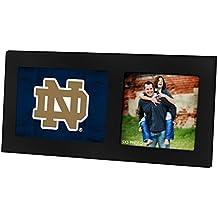 "KH Sports Fan 16"" x 8"" Notre Dame Fighting Irish Colored Logo Black Single Collage Photo Frame"