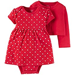 Baby Valentines Day Dress with Cardigan Set