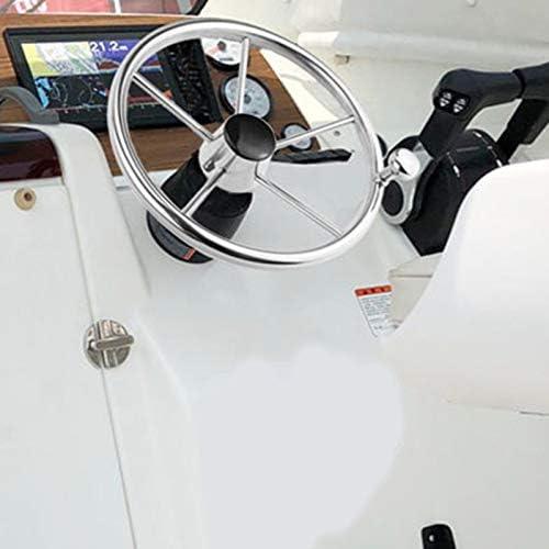 Semoic Volante de acero inoxidable para barco de 13-1//2 pulgadas 5 radios de 25 grados para yate marino