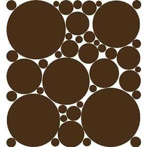 Chocolate Brown Polka Dot Peel & Stick Wall Stickers