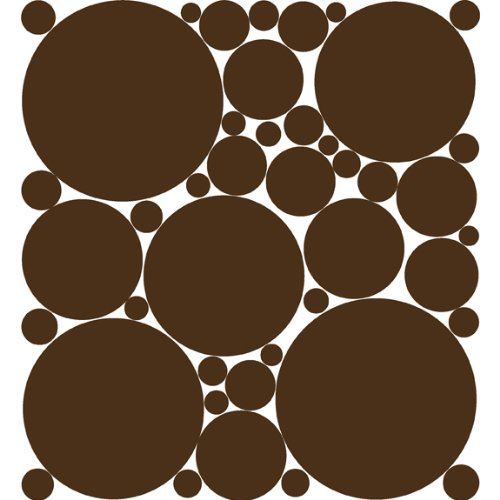 Chocolate Brown Polka Dot Peel & Stick Wall (Brown Polka Dot Peel)