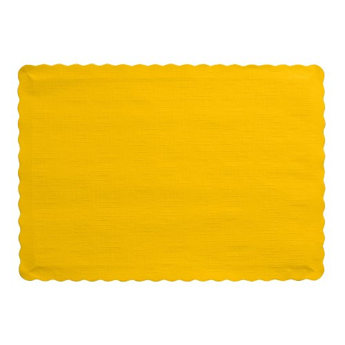 Creative Converting 863269B Paper Scalloped Edges Placemats, 10