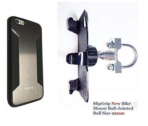 SlipGrip U-Bolt Bike Holder For Apple iPhone 8 Using More-Thing Para Blaze X - Blaze Para