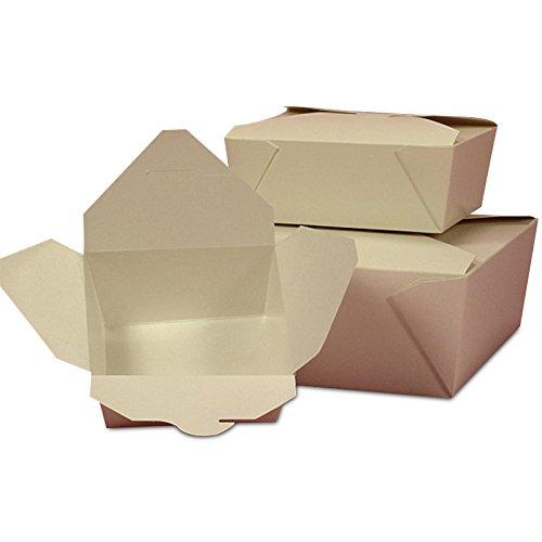 50ea - #1 5-1/8 X 4-3/8 X 2-1/2 Wht Econo-Pak Takeout Box - Restaurant Supplies by Paper Mart ()