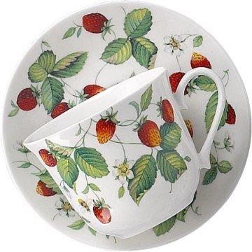 Alpine Strawberry - Alpine Strawberry Large Breakfast Cup & Saucer - Roy Kirkham