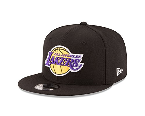NBA Los Angeles Lakers Men's 9Fifty Team Color Basic Snapback Cap, One Size, Black