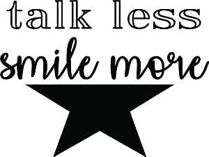 amazon com hamilton musical wall decal sticker talk less smile