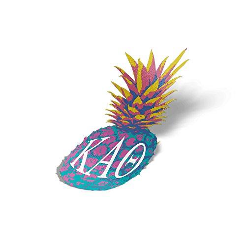 Kappa Alpha Theta Pop Art Pineapple Sticker 5 Inch Tall Sorority Decal Greek Letter for Window Laptop Computer Car Theta