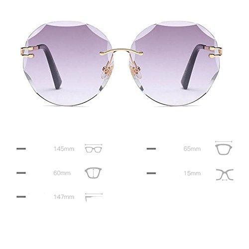 GAOLIXIA anti miroir Mode de Blue Eye mode UV couleur de féminine soleil Cat lunettes Rimless soleil lunettes lunettes Candy rwrYpax
