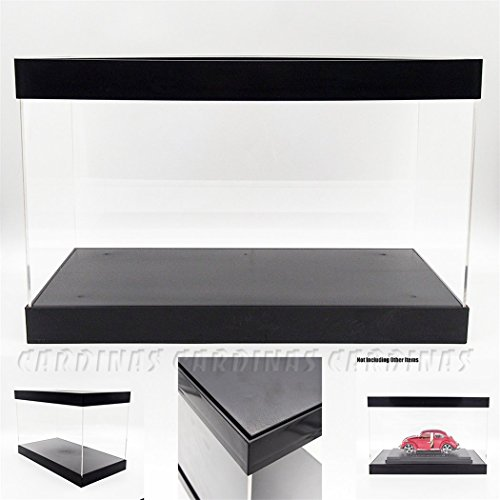 "Odoria Clear UV Acrylic Self-Assembly Display Box Case 14.7"" Long Big Size Dustproof Diecast Car Military Model Display Protection"