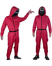 Squid Game Cosplay Costume, Squid Game Mask Costume, Halloween Cosplay Costume, Squid Game Movie Costume Outfit