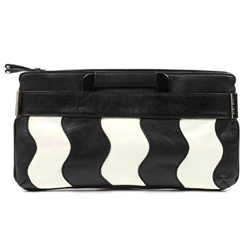 Nine West Womens Handbag 236501 BLACK WHT