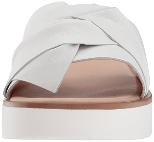 Seychelles Women's Coast Slide Sandal, Natural Stripe, Medium White