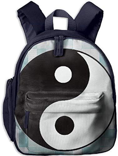Taoist Symbols Yinyang Funny Kids Bags Boys and Girls School Backpack