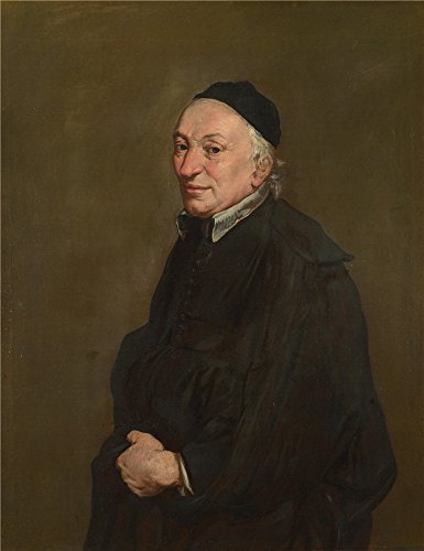 ['Giacomo Ceruti Portrait Of A Priest ' Oil Painting, 16 X 21 Inch / 41 X 53 Cm ,printed On High Quality Polyster Canvas ,this Best Price Art Decorative Prints On Canvas Is Perfectly Suitalbe For Foyer Artwork And Home Decor And] (High Priest Costume For Sale)