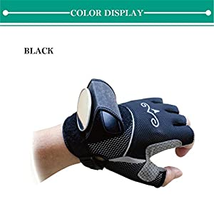 Bicycle Wrist Safety Rear View Mirror Combined with Half Finger Gloves for Cyclists Men Women Mountain Bike Road Riding Cycling Accessories Biking Gadgets