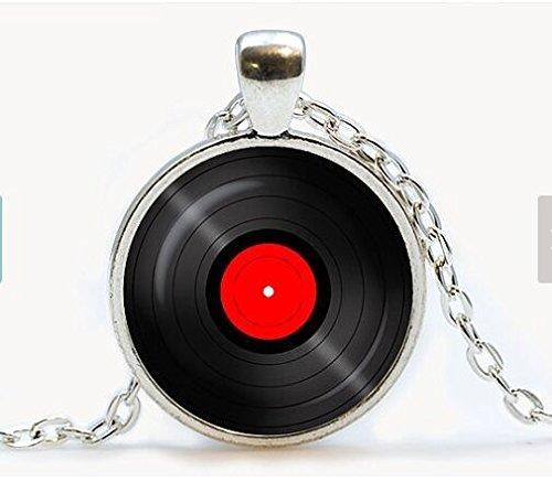 Vinyl Record pendant. Gramophone record necklace. Vinyl reco