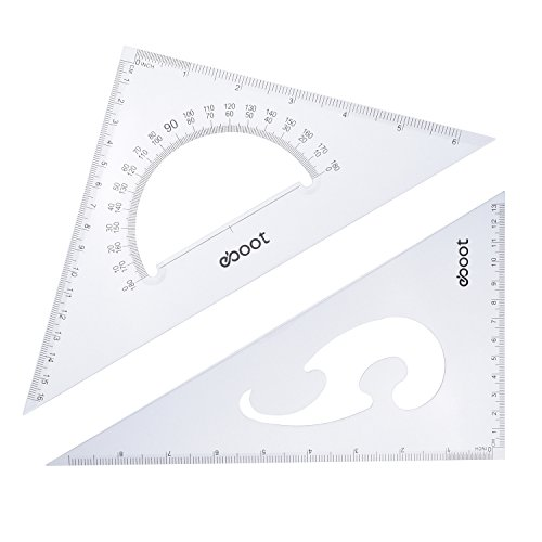 eBoot Large Triangle Ruler Square Set, 30/60 and 45/90 Degrees, Set of 2 by eBoot (Image #3)