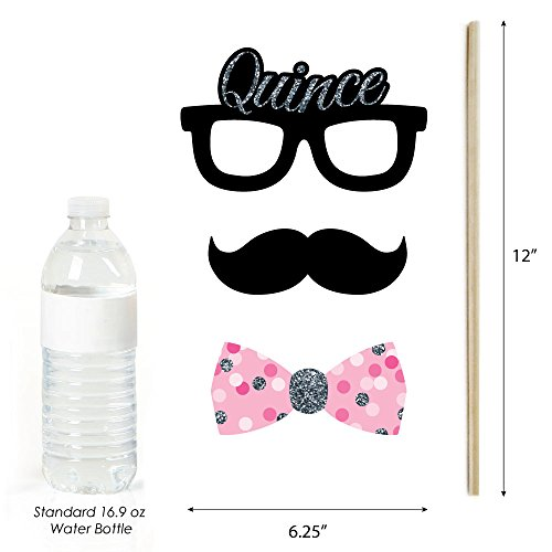 Quinceanera Pink - Sweet 15 - Birthday Party Photo Booth Props Kit - 20 Count by Big Dot of Happiness (Image #4)