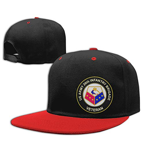 Ginu U.S. Army 26th Infantry Brigade Unit Crest Veteran Baseball Cap Ball Hat for Mens and Womens