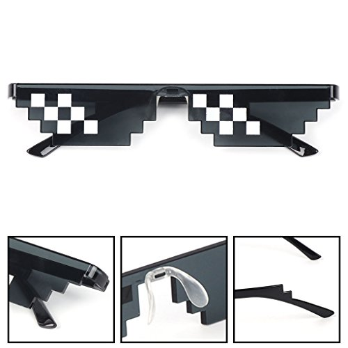 UJuly Black Funny Mosaic Sunglasses Toy for Kids Party Supplies Cool Mischievous Decoration for Men Women Adults by UJuly (Image #6)