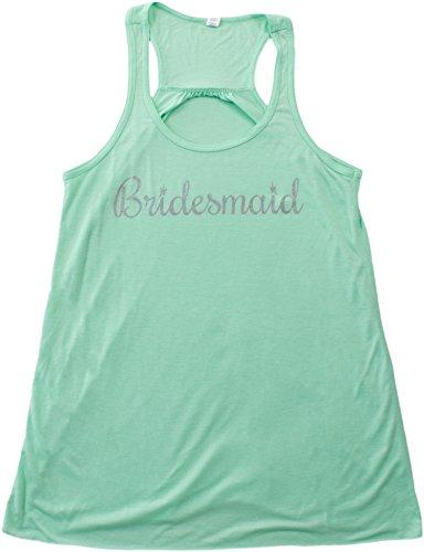 Bridesmaid | Flowy, Silky, Fashionable Racerback Women's Bridal Tank Top